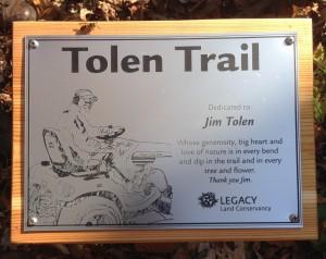 Tolen Trail Plaque