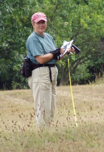 Susan Lackey in the field