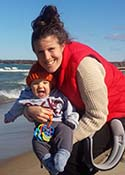 Meghan and joe at beach_4months_web