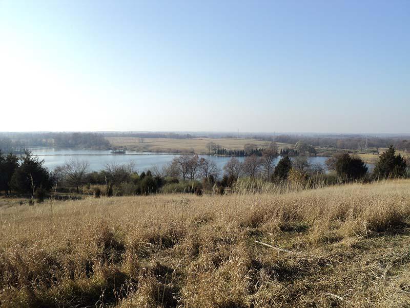 A hilltop overlooking Watkins Lake.