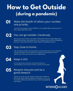 How to Get Outside (during a pandemic) via Outdoor Alliance