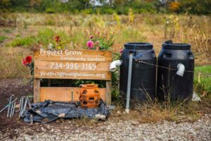 Project Grow sign at Johnson Preserve