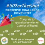 #50ForTheLand Preserves Pathway Challenge Complete